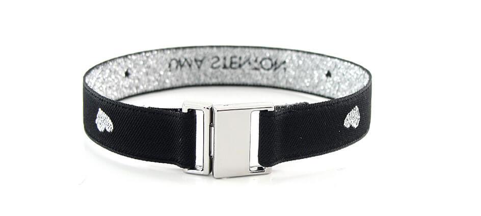 bracelet personnalisé tissé noir