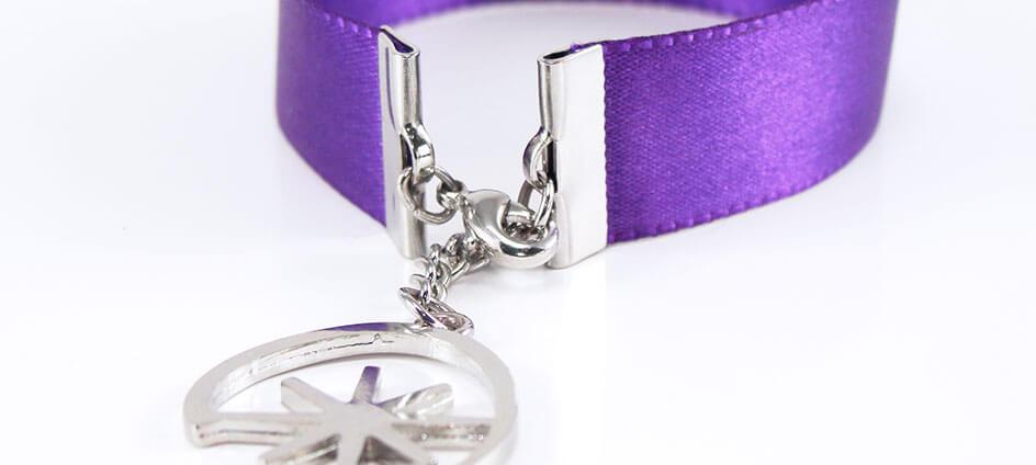 bracelet personnalisé avec mousqueton