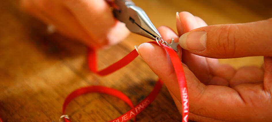 bracelet personnalisé textile