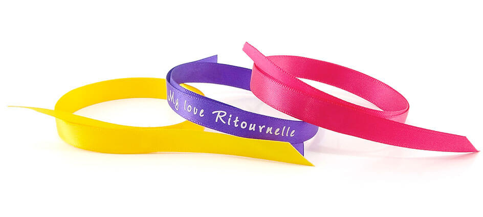 bracelet personnalisé satin à nouer