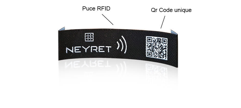 etiquette technologique puce rfid et qr code