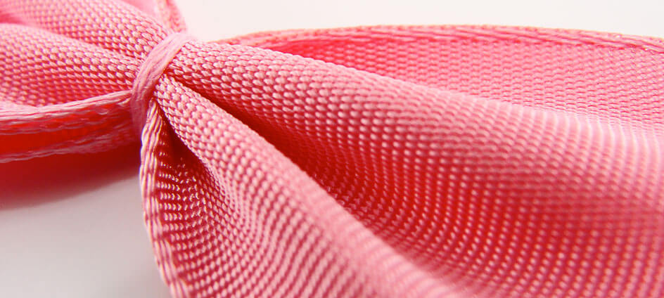 noeuds textile rose