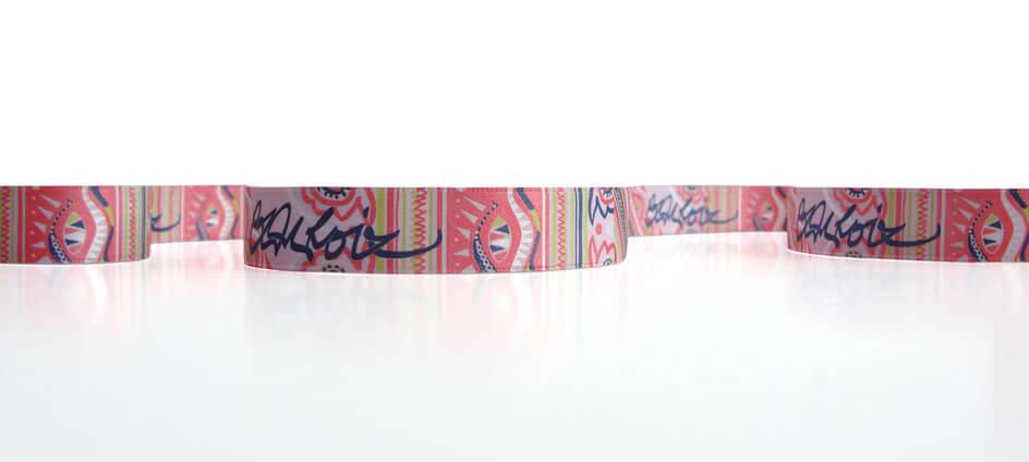 ruban imprimé multicouleur encre plate