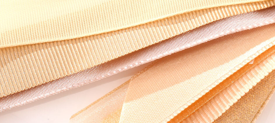 différentes textures de ruban