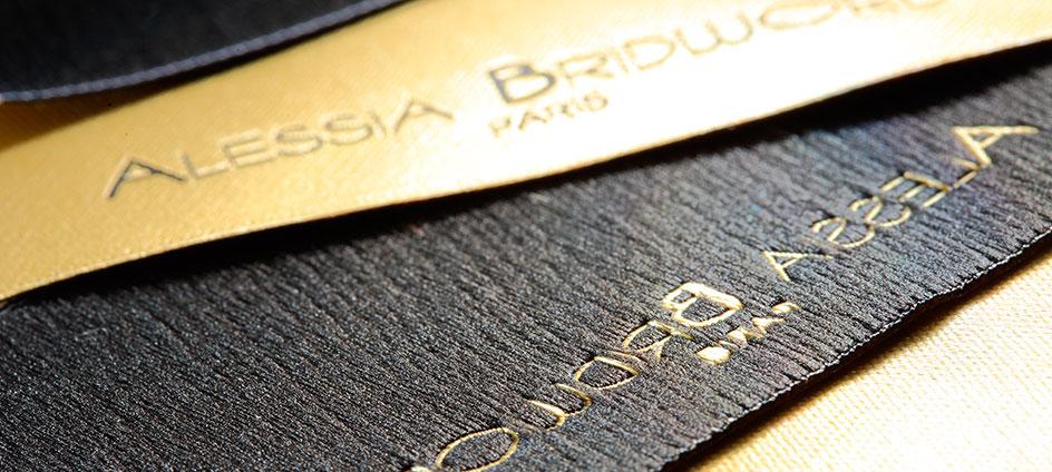 etiquette de marque alessia bridword