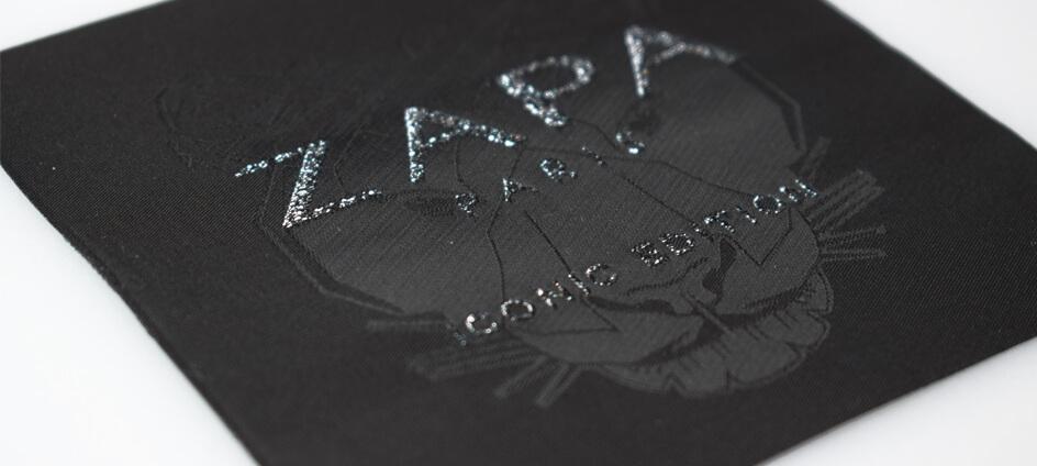 zapa zoom étiquette tissée