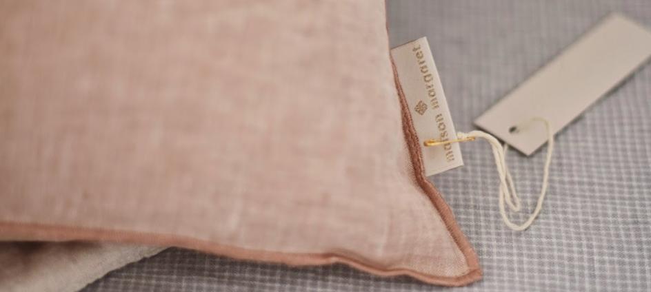 étiquette tissée avec fil lurex