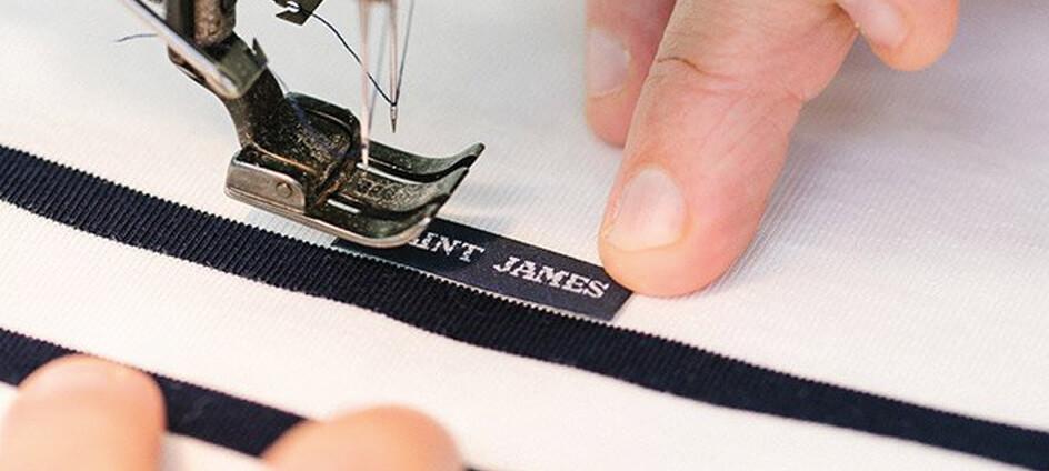 etiquette luxe tissée textile