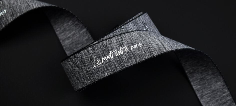 ruban packaging gris chiné la nuit est à nous