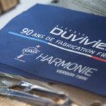 étiquette tissée literie duvivier fabriquée en france