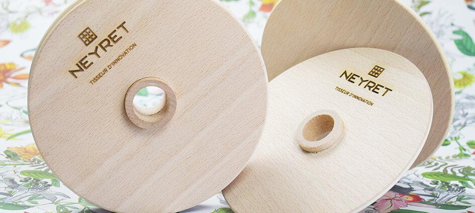 solutions de conditionnement éco-pensée - bobine en bois eco pensee reutilisable