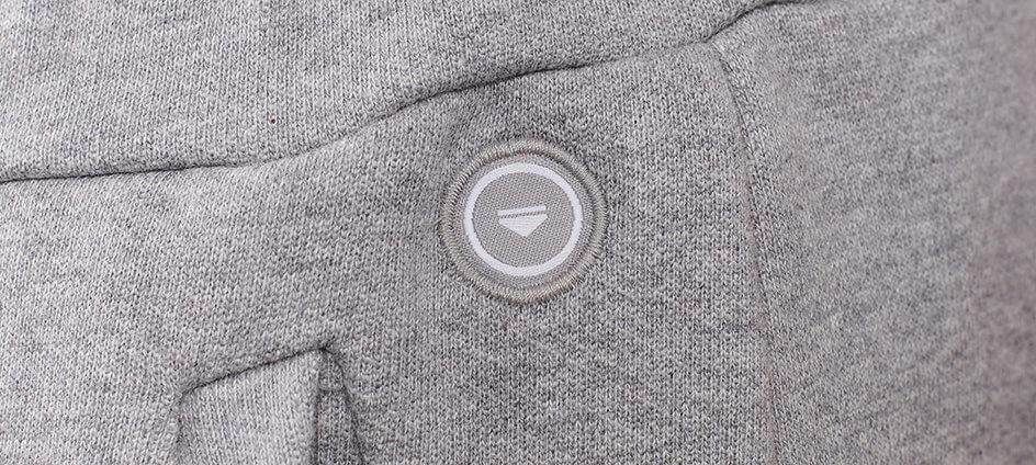 cocarde tissée polyester recyclé le slip francais grise